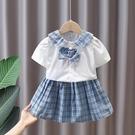女童洋裝 女童套裝夏裝2021新款兒童韓版洋氣學院風短裙兩件套女寶寶套裙