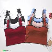 【Osun】螺紋美背睫毛吊帶可愛造型背心(附胸墊,CE176-627)