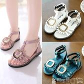 女童涼鞋 女童涼鞋童鞋夏季韓版兒童公主涼鞋中大童女孩沙灘鞋學生 寶貝計畫