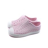 native JEFFERSON 懶人鞋 洞洞鞋 粉紅色 小童 童鞋 13100100-6801 no010