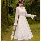 娃娃V領宮廷袖正式宴會洋裝[99260-...