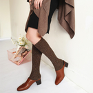【韓風童品】秋冬季厚襪  翻邊羊毛保暖高統襪子  彩色點點堆堆襪  成人襪子  女襪 造型襪