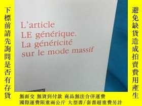 二手書博民逛書店L article罕見Le générique. La géné