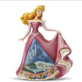 《Enesco精品雕塑》迪士尼睡美人裙襬城堡場景塑像-Once Upon a Kingdom(Disney Traditions)_EN75177