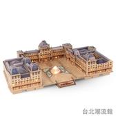 樂立方 盧浮宮3d立體建筑模型 成人拼裝益智拼插手工diy模型拼圖 locn