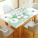 3D網紅pvc桌布餐桌墊家用防水防燙長方形簡約茶幾塑料餐桌軟玻璃