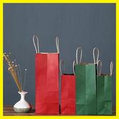 環保牛皮紙袋手提袋外賣打包服裝店購物禮品包裝袋 卡米優品