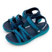 LIKA夢 LOTTO 輕量流行織帶運動涼鞋 流行輕時尚系列 藍綠黑 6175 女
