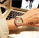手錶女時尚潮流女錶皮帶防水錶學生氣質正韓水鑽石英錶 潮流小鋪