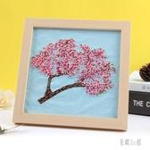 刺繡 古風diy材料包手工課初學布藝套件簡單繡絲帶自繡蘇繡 YN573『易購3c館』