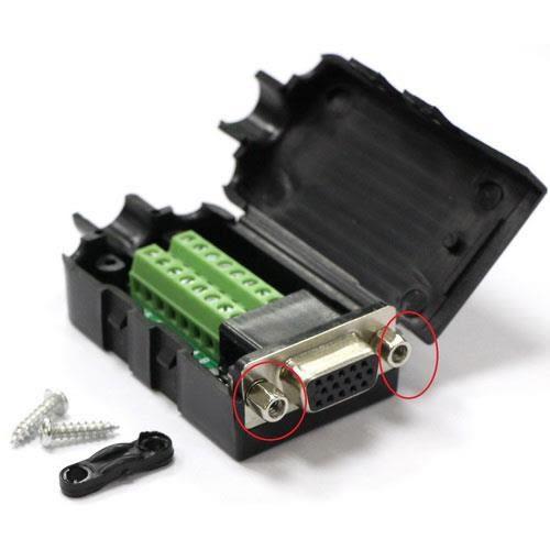 高清VGA15P 母(3+9)免焊式DIY接頭組合包 (六角螺母)