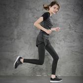 休闲裤 夏季新款健身服顯瘦運動跑步防走光速干緊身假兩件瑜伽訓練長褲 IV1686( 雅居屋 )