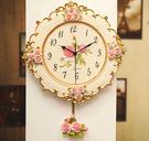 田園時尚可愛掛鐘1 超靜音家居裝飾品 客廳 臥室壁鐘