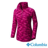 Columbia 女 保暖刷毛立領上衣-暗紫色 【GO WILD】
