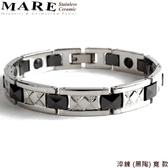 【MARE-白鋼&陶瓷】系列:淬鍊 (黑陶) 寬 款