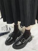 ins小皮鞋女2020春季復古一腳蹬新款學生平底百搭英倫風單鞋子潮「時尚彩虹屋」