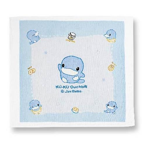 【奇買親子購物網】酷咕鴨KU.KU. 絨面四方浴巾(藍色/粉色)