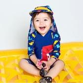 兒童泳衣新兒童泳裝鬼子帽連身2男童3溫泉4寶寶5嬰兒幼兒游泳衣1-8歲