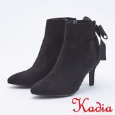 kadia.造型後綁帶高跟短靴(9709-95黑色)
