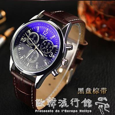 男士手錶  韓版夜光手錶 男士時尚超薄運動石英錶 休閒復古學生腕錶 歐韓流行館