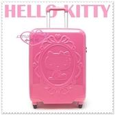 小花花日本精品♥ Hello Kitty 拉桿行李箱/旅行箱/登機箱 桃色側姿愛心20吋 42082408