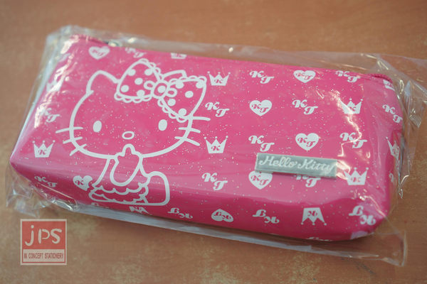 Hello Kitty 新時尚 三角筆袋 粉