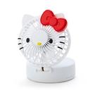 【震撼精品百貨】凱蒂貓_Hello Kitty~日本SANRIO三麗鷗 KITTY 2用造型扇(附肩帶)-白#32492