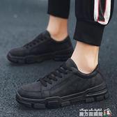 馬丁靴男潮百搭低筒短靴夏季英倫風復古沙漠工裝靴韓版黑色男靴子 魔方數碼館