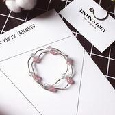 莓晶灰月光石 閨蜜招桃花 純銀水晶手鍊