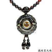 《藏珠家天珠》精品35mm財咒天眼+八大吉祥圖天眼天珠項鍊