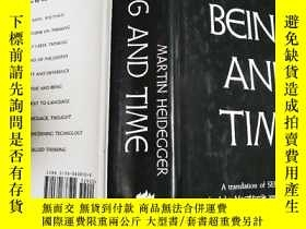 二手書博民逛書店《存在與時間》罕見Being and Time Y3615 馬丁