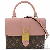 Louis Vuitton LV M44080 Locky BB 經典花紋大鎖頭手提兩用包.玫瑰粉 全新 現貨【茱麗葉精品】