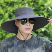 防曬帽子男防紫外線遮陽帽大檐太陽帽戶外釣魚帽【步行者戶外生活館】