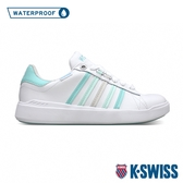 K-SWISS Pershing Court Light WP防水時尚運動鞋-女-白/粉綠