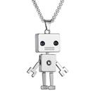 《 QBOX 》FASHION 飾品【C21N1912】 精緻個性歐美工業風方塊機器人合金墬子項鍊