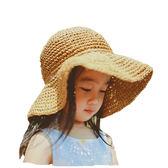 潮流沙灘防曬兒童太陽帽寶寶涼帽夏