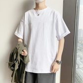 T恤-cec純色內搭短袖男寬鬆t恤潮流韓版中袖打底衫簡約原宿風男生體桖 korea時尚記