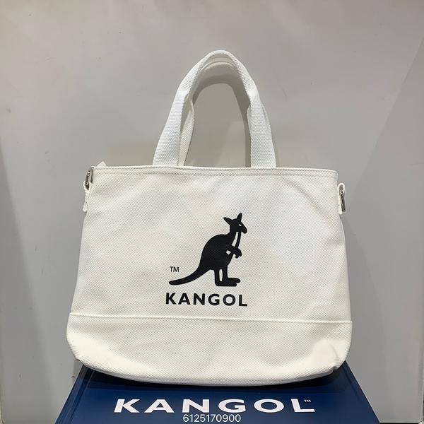 KANGOL Tote Bag 白色帆布側背包 6125170900