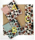 【京之物語】DAKS日本製花卉邊框純綿絲質女性絲巾-褐色/粉色/藍色
