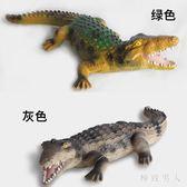 嚇人玩具仿真軟膠超大號鱷魚模型道具搪膠逼真鱷魚兒童玩具 XW4148【極致男人】