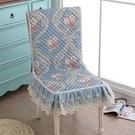 連幫椅坐墊特價椅子坐墊靠墊一體墊防滑四季餐桌椅子套罩連體椅墊 小山好物