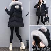 冬裝女新款寬鬆A字棉衣外套中長款加厚娃娃棉襖女裝羽絨棉服   MOON衣櫥