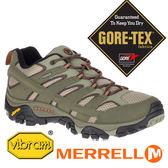 【MERRELL 美國】MOAB 2男GORE-TEX 多功能健行鞋『橄欖綠/棕』42487 機能鞋.休閒鞋.登山鞋
