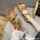 羅馬涼鞋 涼鞋2021年新款女夏季百搭學生仙女風平底鞋牛筋軟底沙灘鞋ins潮 618購物節