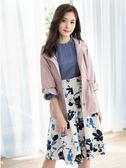 春夏7折[H2O]領口波浪抽褶小飛袖裝飾雪紡泡泡袖上衣 - 白/粉/淺藍色 #9675002