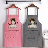 圍裙 純棉圍裙家用圍腰防油廚房韓版時尚做飯罩衣成人男女定制工作服