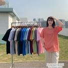 中長款短袖t恤女2021年新款夏季打底衫體恤寬松內搭純色上衣ins潮 居家家生活館