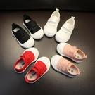 小童帆布鞋男童1-3歲寶寶帆布鞋子韓版女童布板鞋春秋百搭小白鞋 快速出貨