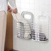 (限宅配)壁掛多功能可摺疊髒衣籃 收納籃 置物籃 洗衣籃
