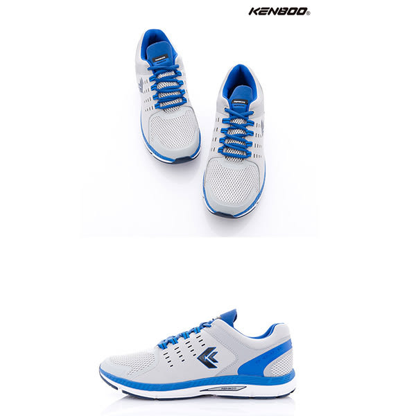 KENBOO(男)- 陽光男孩 透氣蜂巢運動鞋-桔藍